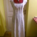 korseti lõikega linane kleit